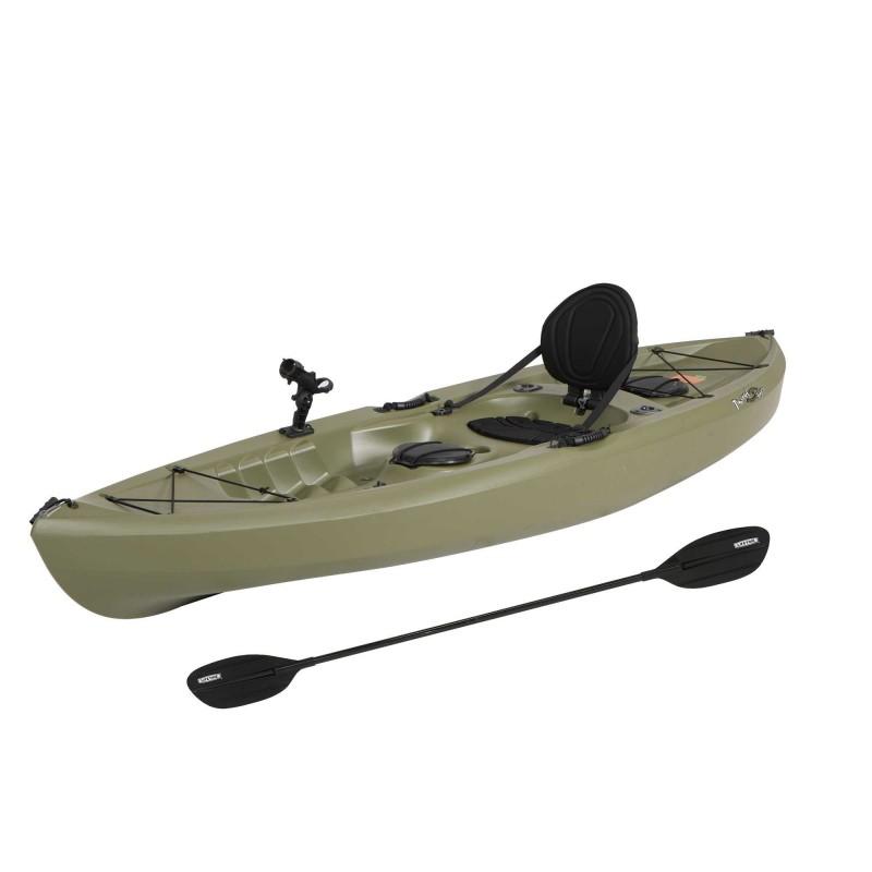 Lifetime Tamarack Angler 100 Fishing Kayak w/ Paddle - Olive Green (90818)