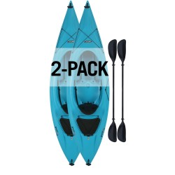 Lifetime Payette 98 Sit-In Kayak 2 Pack  w/ Paddle  - Glacier Blue (90832)