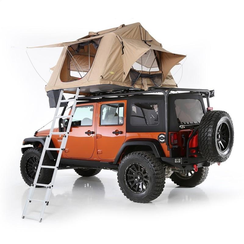 Smittybilt Overlander XL Jeep Roof Top Tent w/ Foam Mattress & 12V Socket - Tan (model 2883)