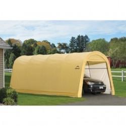 ShelterLogic 10x20x8 ft Round Style Auto Shelter - Sandstone (62684)