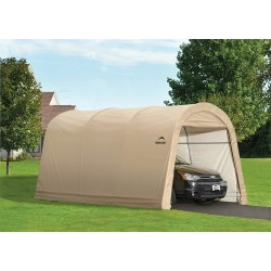 ShelterLogic 10x15x8 ft Round Style Auto Shelter - Sandstone (62689)