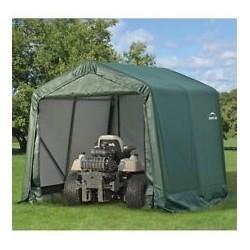 ShelterLogic 8x8x8 Peak Style Shelter, Green (71804)