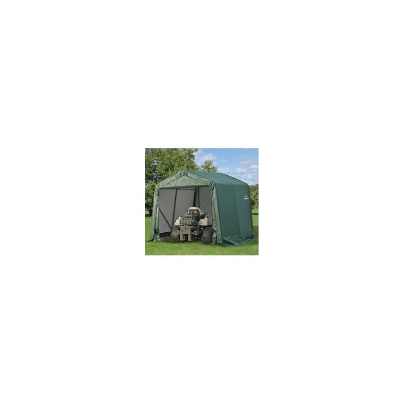 ShelterLogic 8x8x8 Peak Style Shelter, Green (71804)