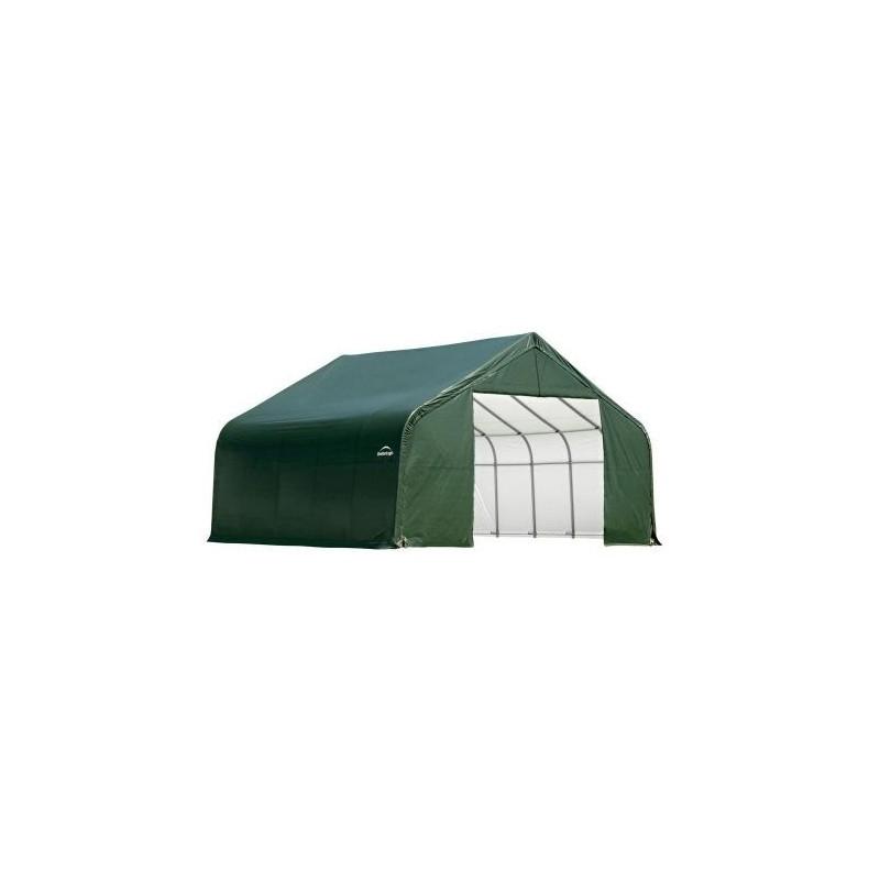 ShelterLogic 11x12x10 Peak Style Shelter, Green (72864)
