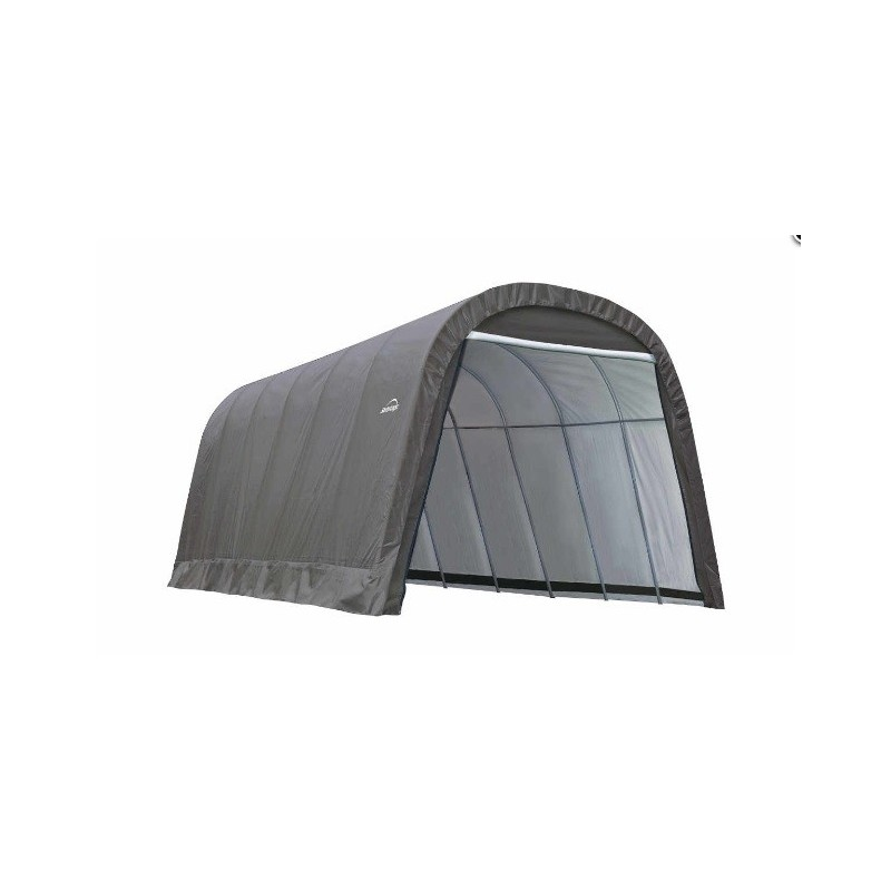 ShelterLogic 13x24x10 Round Style Shelter, Grey (74332)