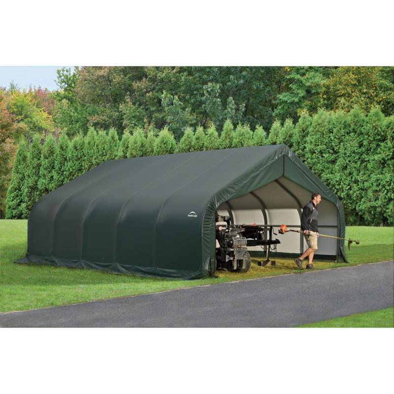 Shelter Logic 18x20x9 Peak Style Shelter, Green (80044)