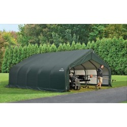 ShelterLogic 18x28x9 Peak Style Shelter, Green (80006)