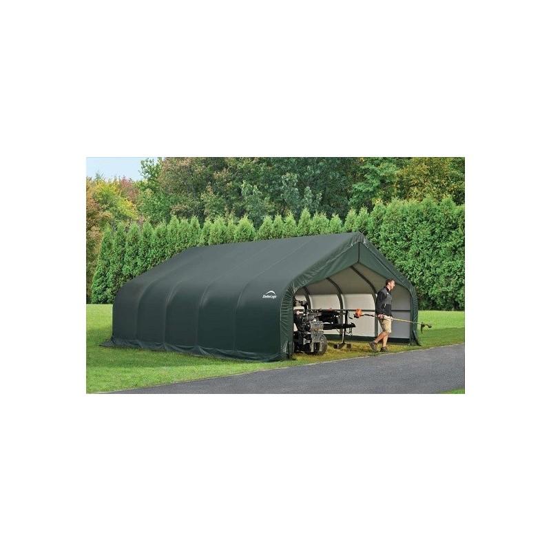 ShelterLogic 18x28x9 Peak Style Shelter, Green (80006)