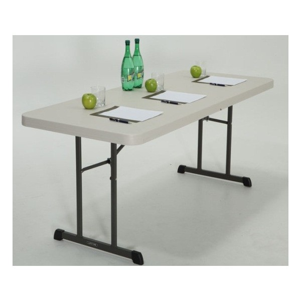 Lifetime 6 Ft Professional Grade Folding Table Almond