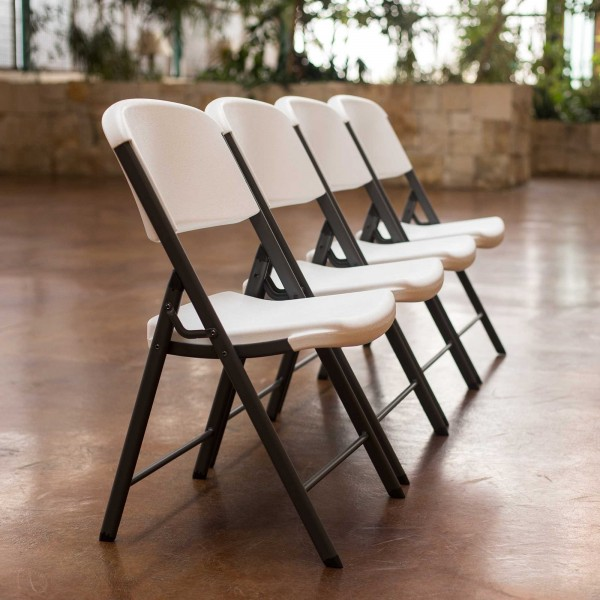 Lifetime Classic Commercial Folding Chair 4 Pack White