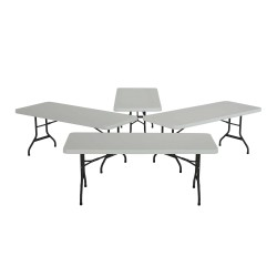 Lifetime 4-Pack 6 ft. Commercial Folding Banquet Tables - White (42901)