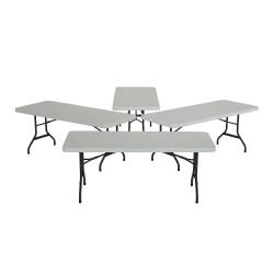 Lifetime 4-Pack 6 ft. Commercial Folding Banquet Tables - White (42901)