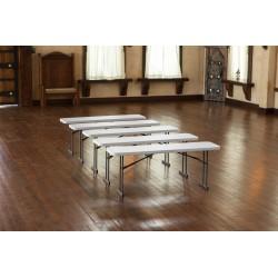 Lifetime Commercial Folding 6 ft Seminar Table 5 Pack (White Granite) 580176