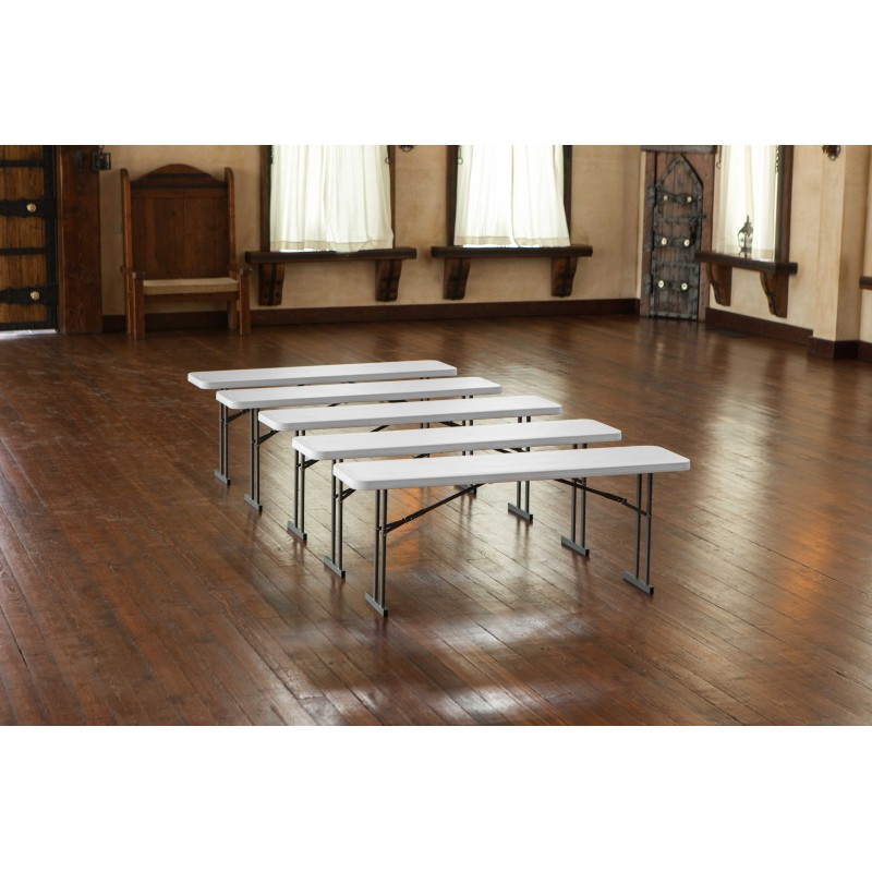 Lifetime Commercial Folding 6 ft Seminar Table 5 Pack (White Granite) 580176