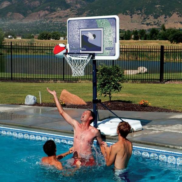 Lifetime Pool Side 44-Inch Impact Adjustable Basketball Hoop (1301)