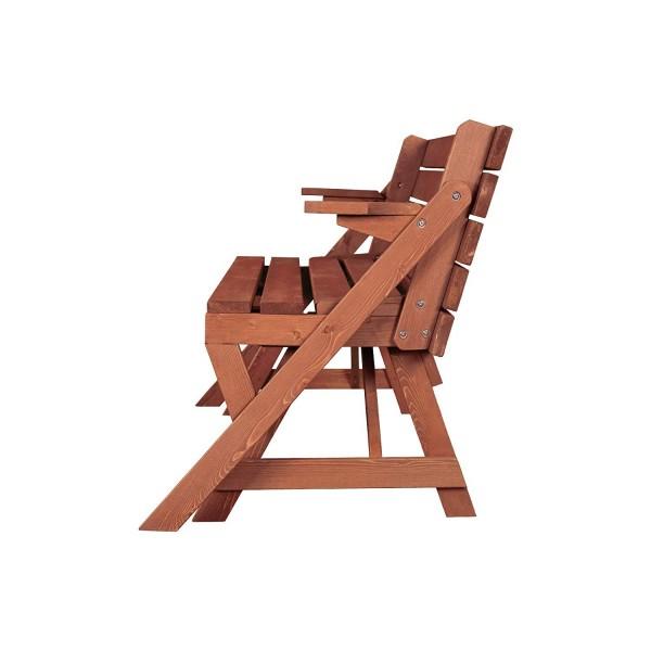 Leisure Season Convertible Wood Picnic Table & Garden ...