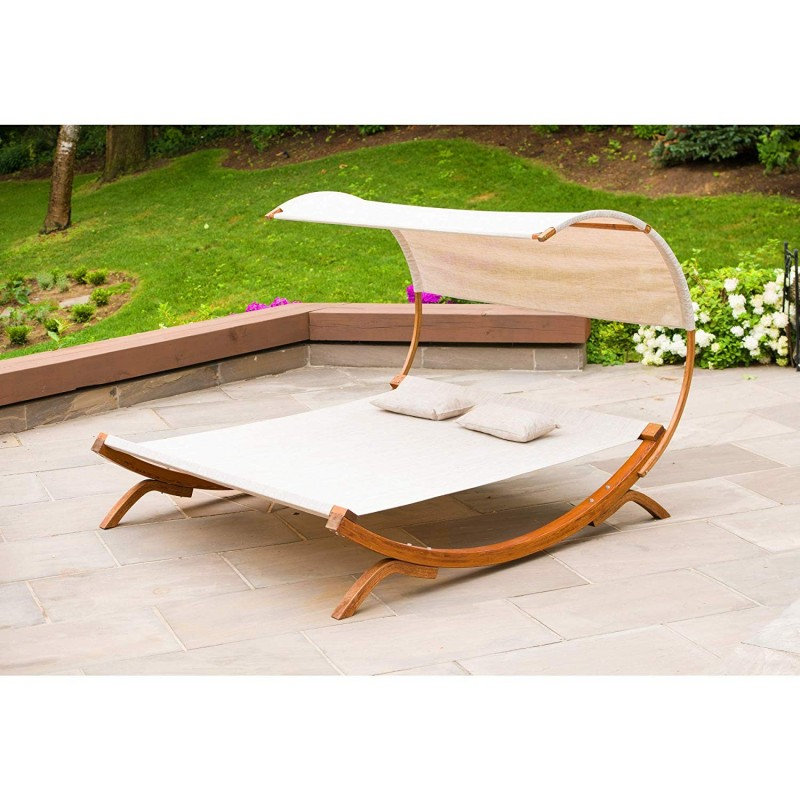 Leisure Season Sunbed with Canopy (SNBC403)