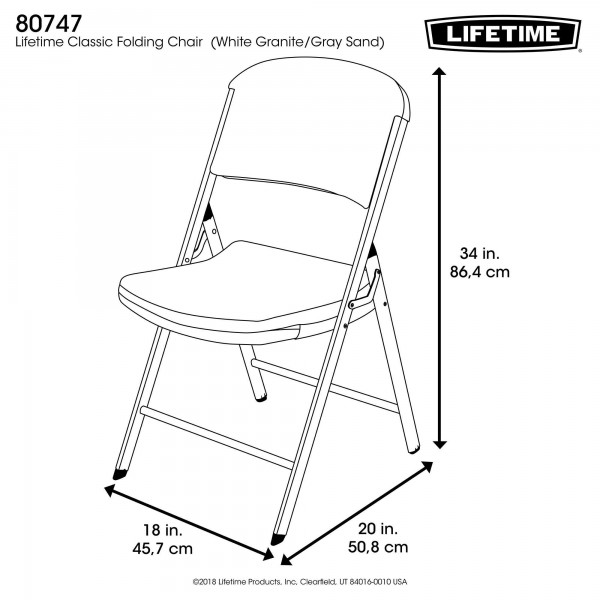 Swell Lifetime 6 Pack Classic Folding Chairs White Granite 80747 Interior Design Ideas Apansoteloinfo