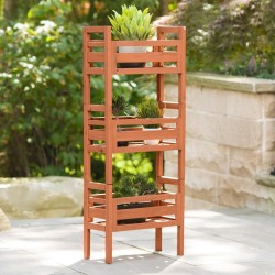 Leisure Season Wooden Stacking Plant Stand (PBS7117)