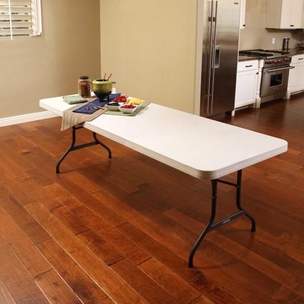 Lifetime 8ft Commercial Plastic Folding Banquet Table