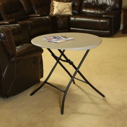 Lifetime 33 in. Round Folding Table - Putty (80230)