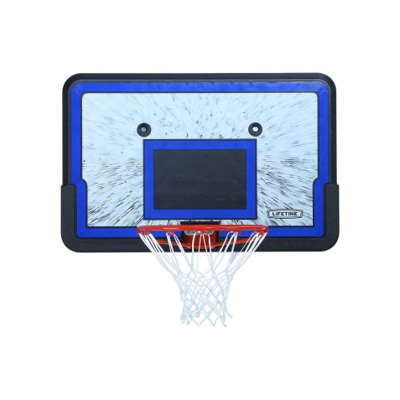 Lifetime 44 in. Rectangular Impact Basketball Backboard, Slam-It Rim (3241)