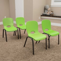 Lifetime 4-pack Contemporary Children's Stacking Chairs - Lime Green (80473)