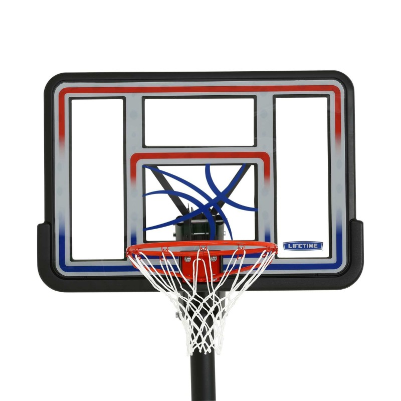 Lifetime 44 in. In-ground Basketball Hoop - Makrolon Polycarbonate Quick Adjust System (1008)