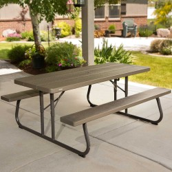 Lifetime 6-Foot Classic Folding Picnic Table (60112)