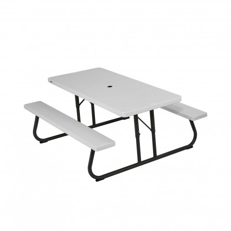 Lifetime 6 ft Folding Picnic Table - White (80215)