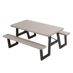 Lifetime A-Frame Folding Picnic Table - Putty (60030)