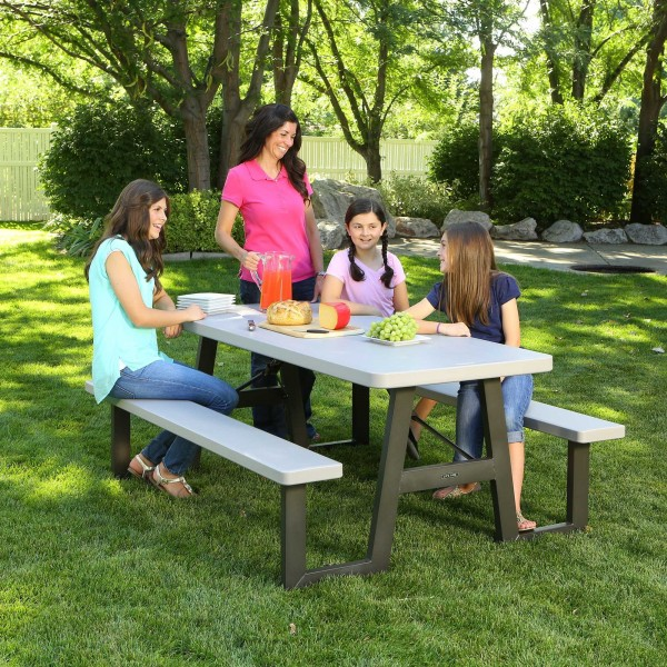 Lifetime A Frame Folding Picnic Table Putty 60030