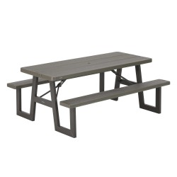 Lifetime W-Frame 6ft Picnic Table - Brown (60233)