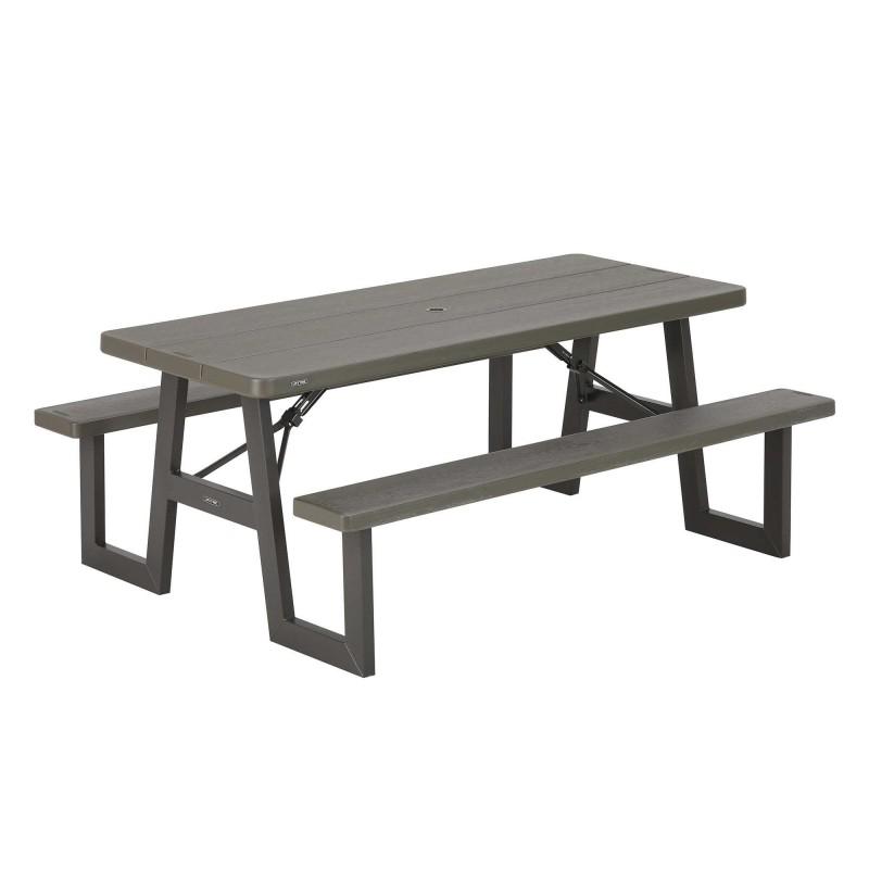 Lifetime W-Frame 6ft Picnic Table - Brown (60233)