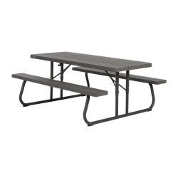 Lifetime 6-Foot Faux Wood Picnic Table (60105)