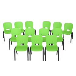 Lifetime 13-pack Contemporary Children's Stacking Chairs - Lime Green (80474)
