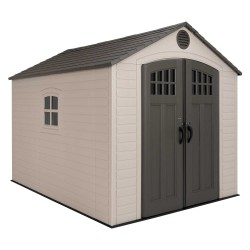 Lifetime 8x10 Outdoor Storage Shed Kit w/ Horizontal Siding - Desert Sand (60238)
