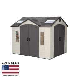 Lifetime 10x8 ft Garden Shed Kit - Double Doors (60001)