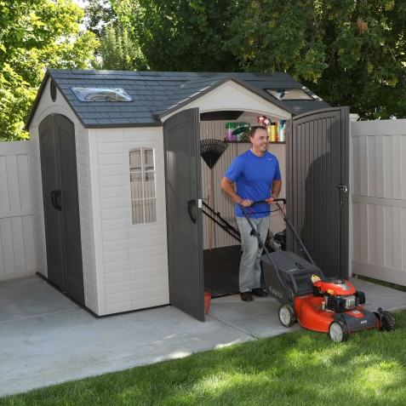 Lifetime 10x8 ft Garden Shed Kit - Double Doors (60001)