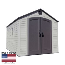 Lifetime 8x15 ft Plastic Storage Shed Kit - 2 Windows (60075)