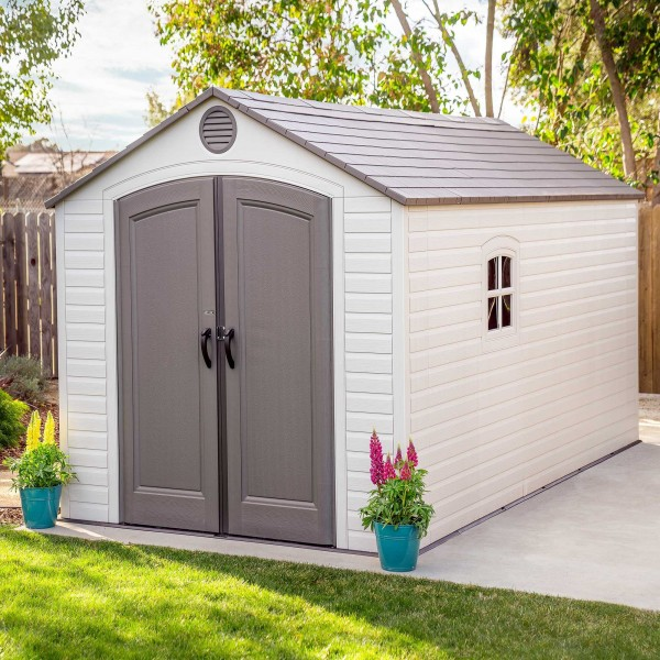 Lifetime 8x15 Ft Plastic Storage Shed Kit 2 Windows 60075
