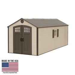 Lifetime Sheds 8x20 Plastic Storage Shed w/ 2 Windows (60120)