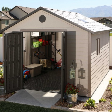 Lifetime 11x13.5 ft Outdoor Storage Shed Kit (6415)
