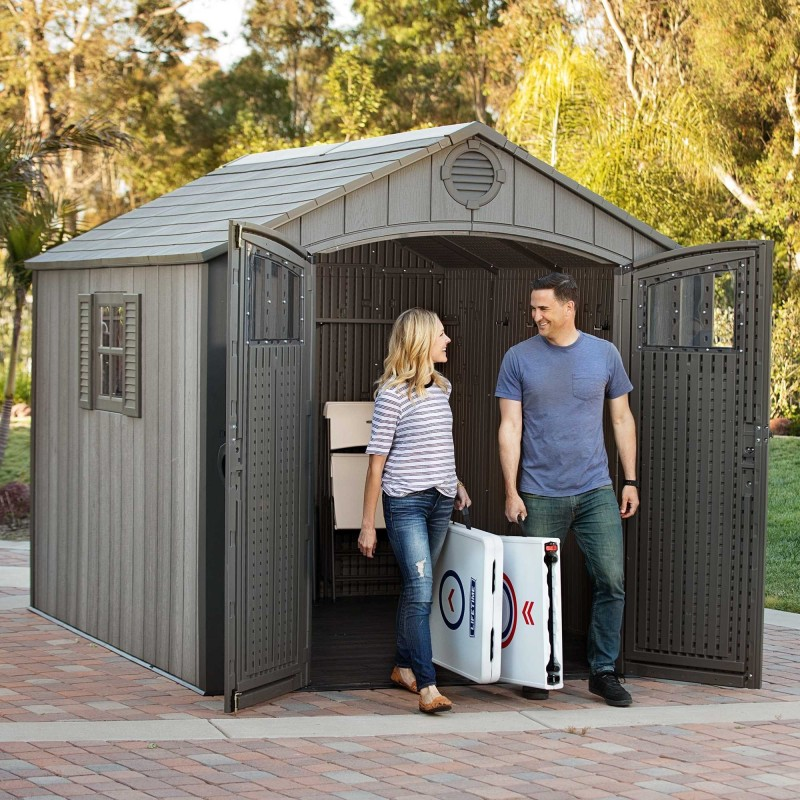 Lifetime 8 Ft. x 10 Ft. Outdoor Storage Shed *NEW Style* (60211U)