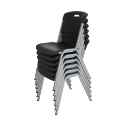 Lifetime 14-pack Stacking Chairs - Black (80310)