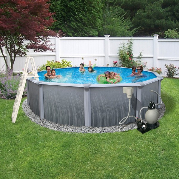Blue Wave Madagascar 27 X 52 Quot Round Frame Pool Package