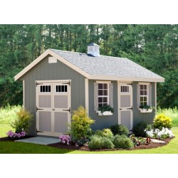 EZ-Fit Riverside 10x14 Wood Shed Kit (ez_riverside1014)