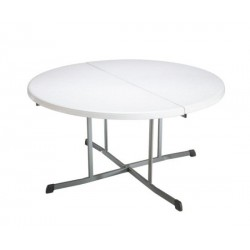 Lifetime 60 in. Commercial Round Fold-In-Half Table - White (25402)