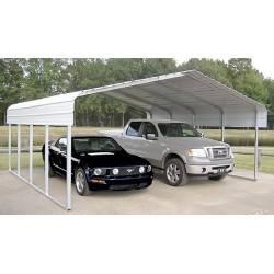 Rhino Shelter 22'W x 24'L x 12'H Two Car Steel Carport Kit (model ST222412H)