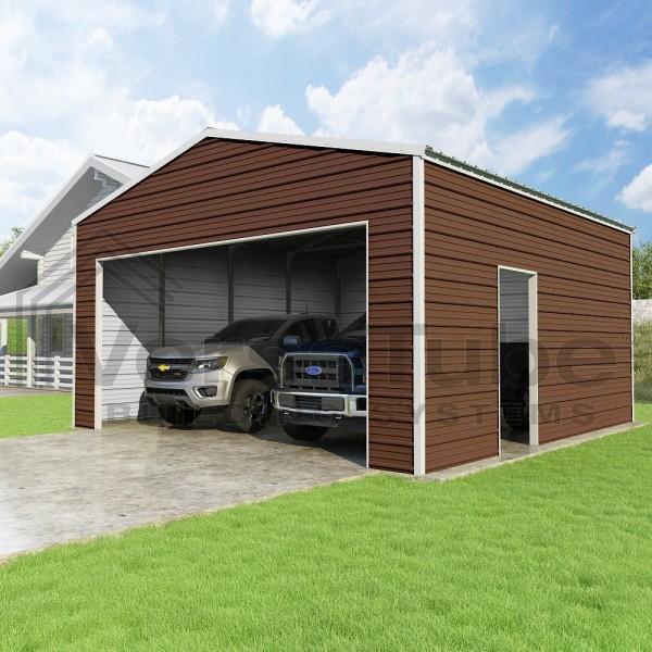Versatube 20x20x10 Frontier Steel Garage Kit (FBM2202010516